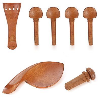 Brand New 4/4 Full Size Jujube wood Violin Parts Set Carved Angel Pattern 7 Pcs