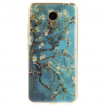 Apricot Blossom Soft Clear IMD TPU Phone Casing Mobile Smartphone Cover Shell Case for Meizu M5c / 5C / A5 Charm Blue A5