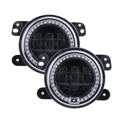 4 inch LED RGB Fog Light for Jeep Wrangler JK with Turning DRL