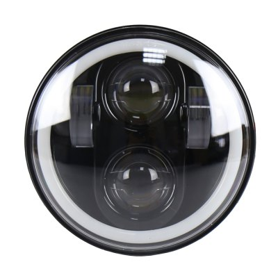 5.75 inch Round Led Headlight with RGB Angel Eyes Bluetooth Remote Controlled