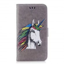 HD Glitter Colorful Horse Pattern PU Leather Wallet Case for Samsung Galaxy S8