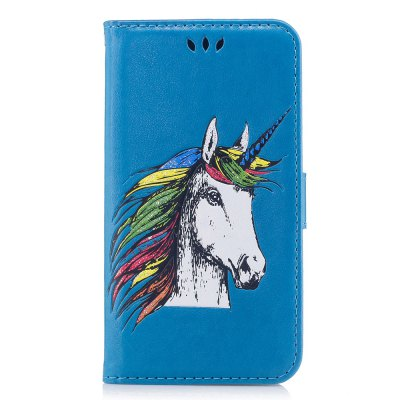 HD Glitter Colorful Horse Pattern PU Leather Wallet Case for Huawei P10 Lite