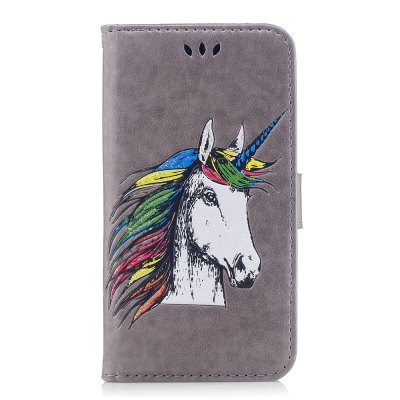 HD Glitter Colorful Horse Pattern PU Leather Wallet Case for Xiaomi Redmi Note 3