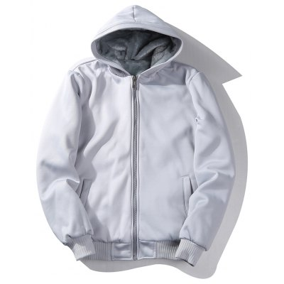 White Clothing Fur Lined 2017 New products gadgets Design Cheap Down Fleece Hoodies