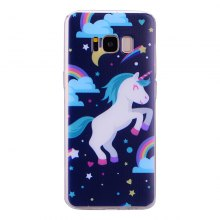 Pegasus Pattern Soft TPU Clear Case for Samsung Galaxy S8
