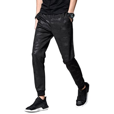 Men's Casual Pants Camouflage Slim Ankle Banded Pants
