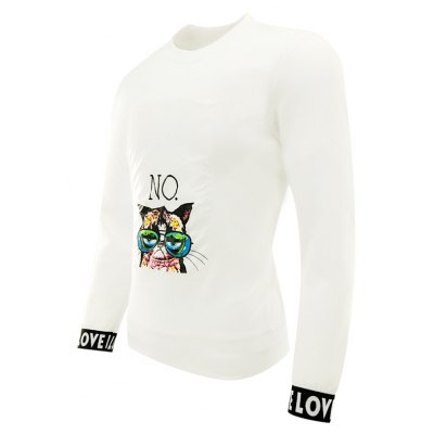Men'S Spring and Autumn Fashion Casual Long-Sleeved Printing Trend Crew Neck Sweatshirts