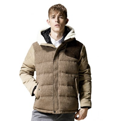 Fashion Thick Warm Men'S Hooded Coat Male Jacket Coat