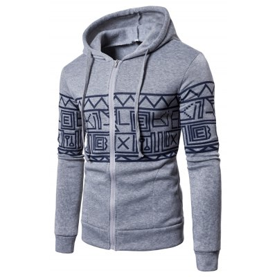 New products gadgets Men'S New products gadgets Casual Sweater Stylish Geometric Printed Hoodie