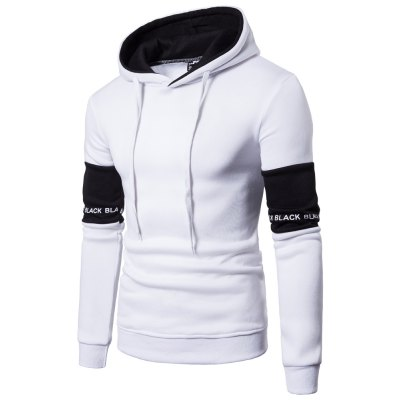 New products gadgets Men'S Casual Hooded Fashion Sleeve Stitching Hedging Hoodie