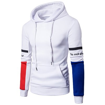Men'S New products gadgets Casual Fashion Sleeves Spell Color Hoodie