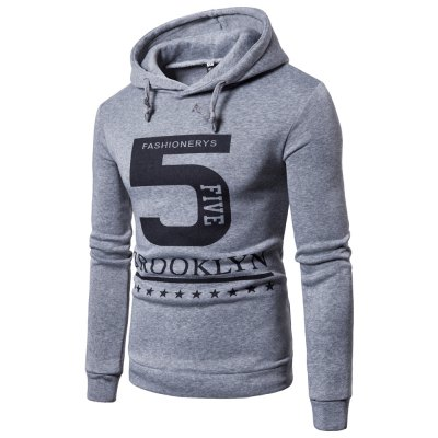 New products gadgets Men'S Casual Letter Printing Hooded Hoodie