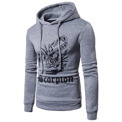 New products gadgets Men'S Hoodie Fashion Scorpion Printing Hoodie