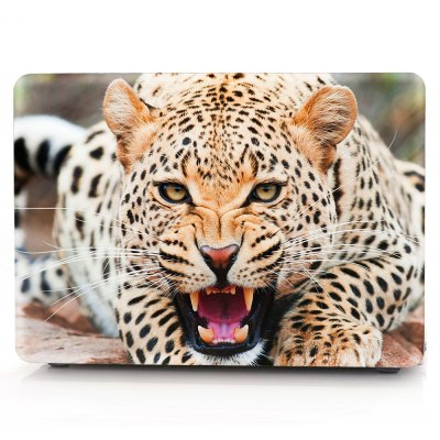 Computer Shell Laptop Case Keyboard Film for MacBook Air 12 inch 3D Wild Leopard
