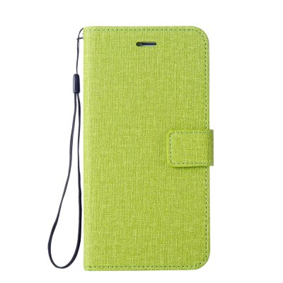 Cotton Pattern Leather Case for Moto G6 Plus