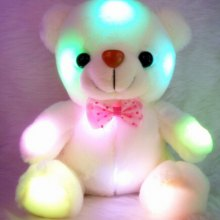 LED Flash Stuffed Plush Bear Soft Doll Toy Home Decor Xmas Birthday Valentine's Gifts