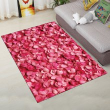 Fashion Personality Rose Petal Pattern Carpet for Living Room Bedroom