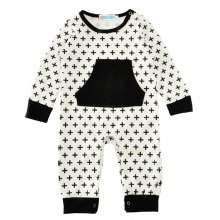 SOSOCOER Newborn Infant Bodysuits 2018 New Simple Cross Printing Baby Romper