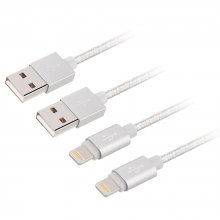 For iPhone Charger (2x 3.3ft) 2Pack Premiumto USB Cable 8 Pin Nylon Braided Charging Cable