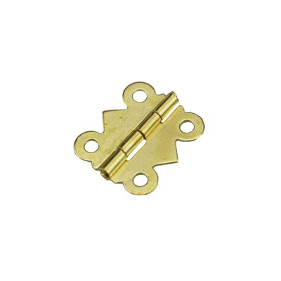 15PCS Vintage Brass Color Iron Mini Butterfly Butt Hinges Cabinet Drawer Jewelry Box DIY Repair
