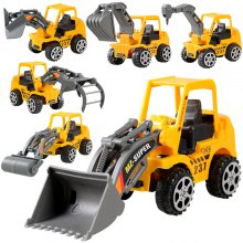 Friction Dumper Bulldozers Forklift Tank Excavator Cars 3 Construction Vehicles Truck 1:72 Beach Toys