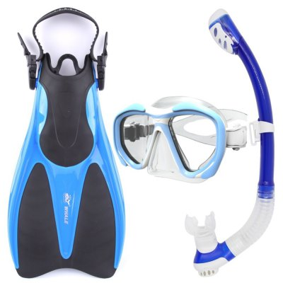 Hot Whale Diving Sports Equipment Diving Mask Snorkel Fins Set High Quality With 5 Colors MK2600+SK100+WF800
