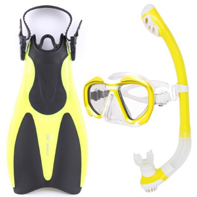 2017 HOT Whale Diving Sports Equipment Diving Mask Snorkel Fins Set High Quality With 5 Colors MK2600+SK100+BA800
