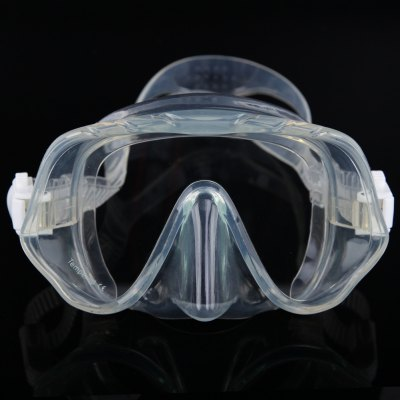 Silicone Skirt Strap Snorkel Scuba Dive Mask & Goggle with Great Vision & Tempered Glass for Adult Free Diving
