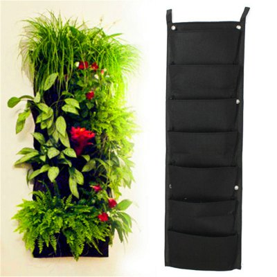 7-POCKET Outdoor Vertical Gardening Flower Pots and Planter Hanging Pots Planter On Wall