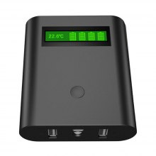 Epilot E4 DIY 4 x 18650 Li-ion Battery Charger Smart Power Bank with LED Flashlight Display Temperature