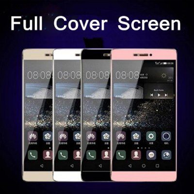 3D Curved Surface Full Cover Explosion-proof Screen Tempered Glass Film for Huawei Ascend P8