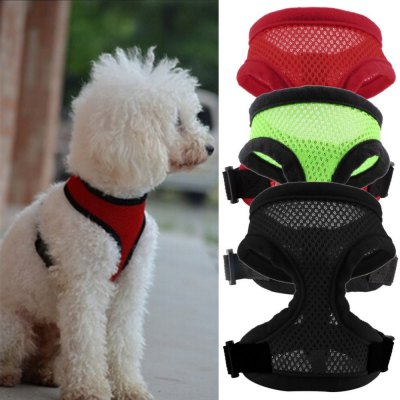 Nylon Pet Mesh Dog Harness Strap Vest Collar for Small Medium-sized Larged Dog Puppy