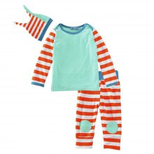 SOSOCOER Baby Clothes Set 2018 Spring New Striped Hat T-Shirts and Trousers Three Pieces