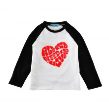 SOSOCOER Children Clothing 2-7T 2018 New Love Printed Long Sleeved T-Shirt