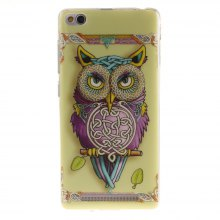 Oil Painting Owl Soft Clear IMD TPU Phone Casing Mobile Smartphone Cover Shell Case for Xiaomi Redmi 3
