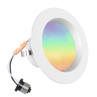 iLintek Bluetooth Smart LED Downlight Mesh Multicolor 4 Inch Recessed Lights Color Changing RGB LED Light
