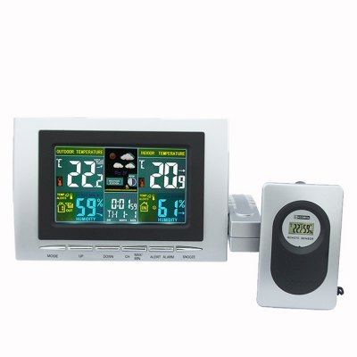 LCD Electronic Household Multifunctional Alarm with Creative Color Meteorological Weather Forecast Clock