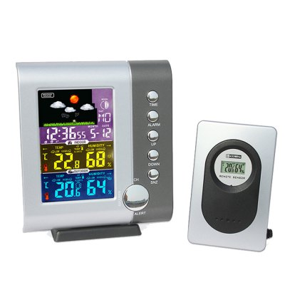 XY - WS1 Intelligent Weather Clock Household Multi-function Electronic Weather Thermometer