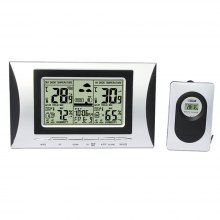 XY - NZ5 Multi-function Indoor and Outdoor Thermometer Hygrometer Household Creative Weather Forecast Double Clock