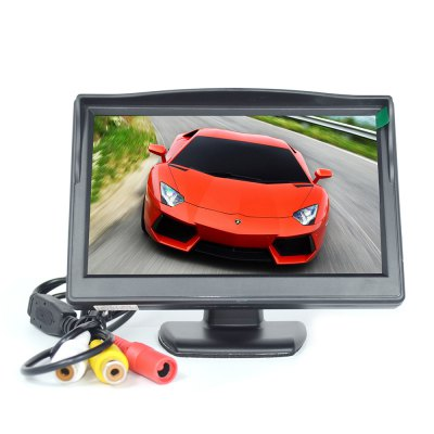 5 Inch TFT LCD Digital Color Car Rear View Monitor 2 Video Input Support DVD / Other Video Equipments