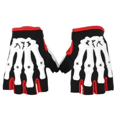 Professional Motorbike Cycling Racing Skull Refers To Non-Slip Breathable Gloves