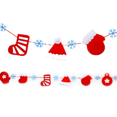Christmas decoration supplies Christmas decoration hanging flag non-woven Merry Christmas pull flag