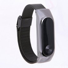For Xiaomi Mi Band 2 Metal Strap Bands Mesh Wrist Belt Wristband Smart Bracelet Accessories Stainless
