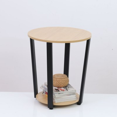 Wooden Desktop Round Table Living Room Side Table Coffee Table