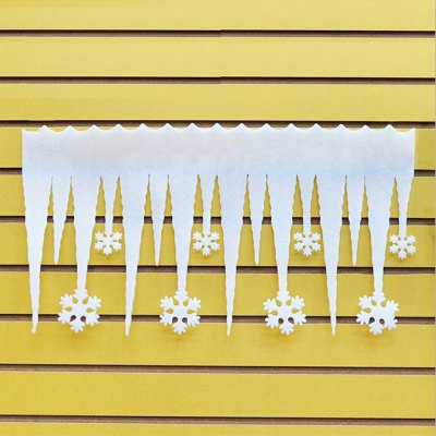 Christmas Decoration Bubble Icicle Christmas Snowflake Column Snow View Wall Window Decoration Bubble Ice Bars (3 pieces