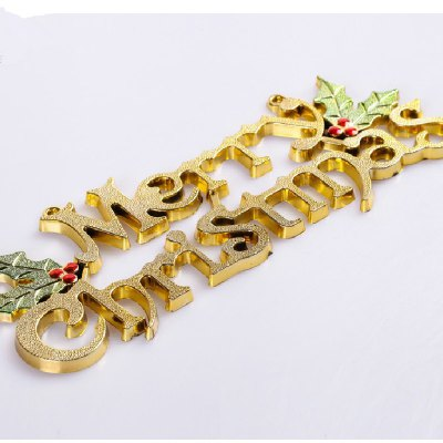 YEDUO 25cm Christmas Tree Decoration Ornaments Alphabet Letter Cards