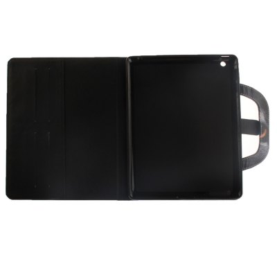 Half Face Cat Leather Wallet Cover Design with Stand and Portable Card Slots Magnetic Closure Case for iPad 2/3/4