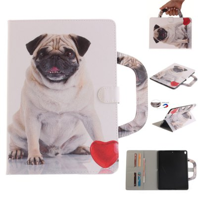 Pug Leather Wallet Cover Design with Stand and Portable Card Slots Magnetic Closure Case for iPad Pro 10.5