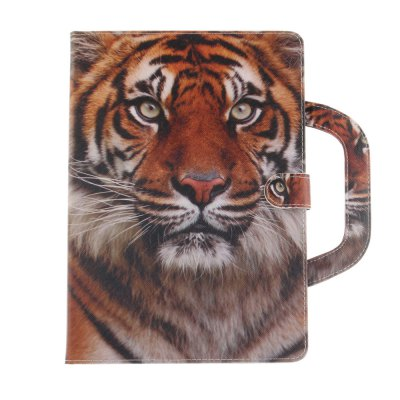 Tiger Leather Wallet Cover Design with Stand and Portable Card Slots Magnetic Closure Case for iPad Pro 10.5