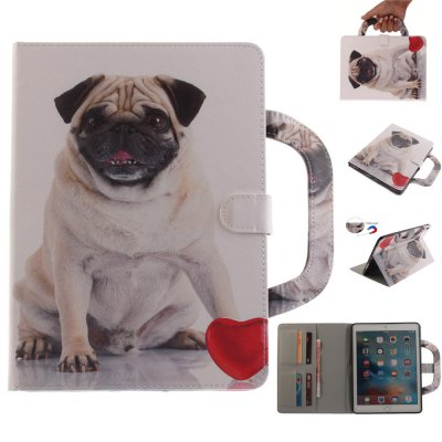 Pug Leather Wallet Cover Design with Stand and Portable Card Slots Magnetic Closure Case for iPad Pro 9.7